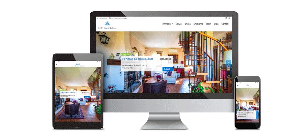 mockup loto immobiliare portfolio web design digital suits web agency